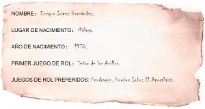 Hoja Enrique López Hernández