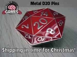 Metal d20 pins